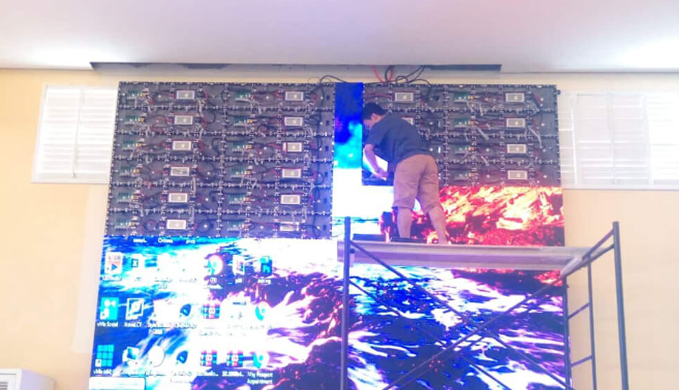 Indoor P3.91 LED Video Wall