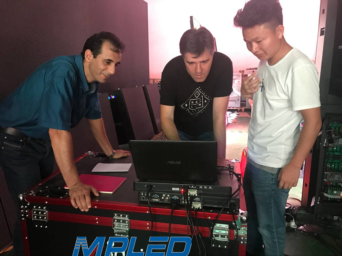Morocco Customers Visited MPLED for P3.91 LED Display