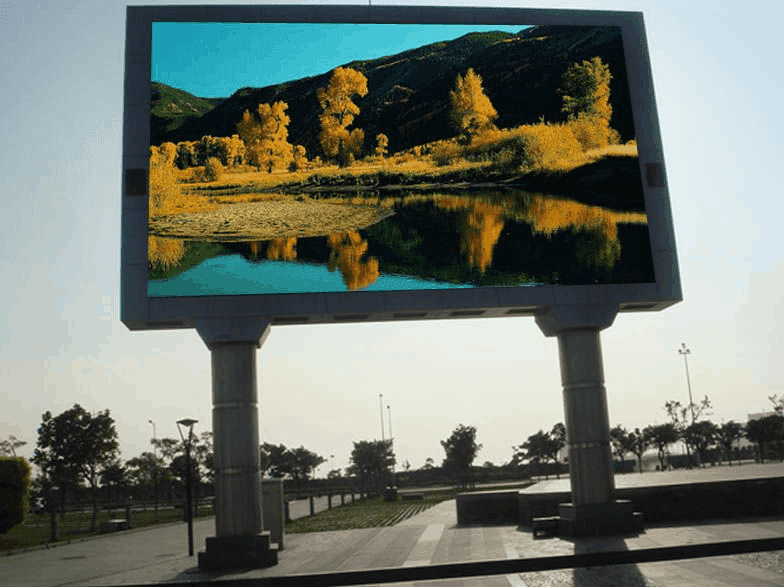 Japan 3 sets of 25.8 square meters P4 outdoor front maintenance MF series LED display
