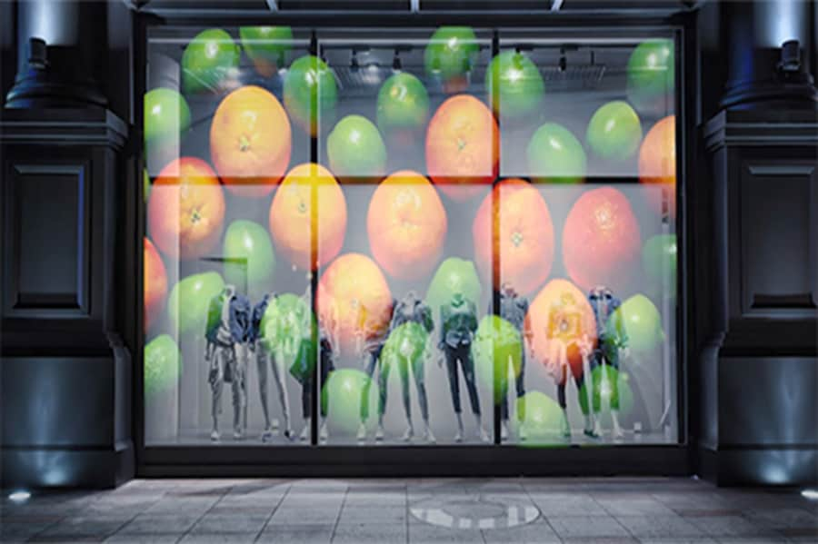 3×2.5m Transparent crystal film LED display