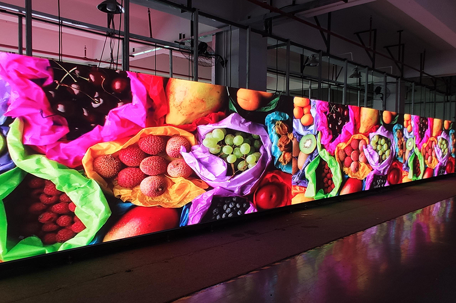 60 square meters  Indonesia P2.5 indoor fixed installation LED display