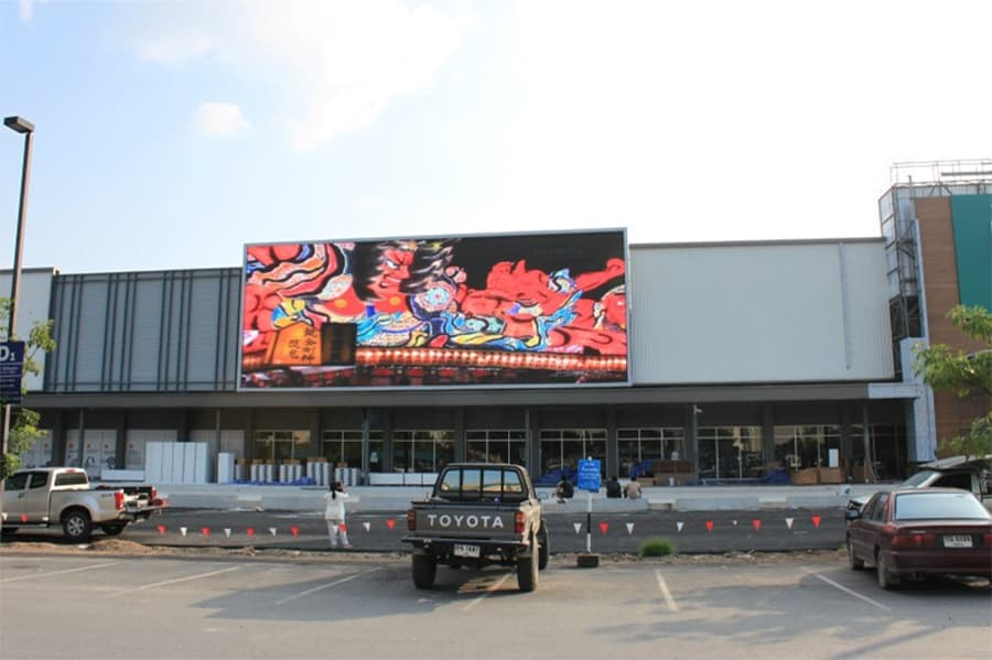 50 square meters outdoor P6 LED display in Turkey